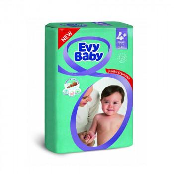 EVY BABY PELENE JUMBO 4+ MAXI 9-20KG - 54 KOM NOVO