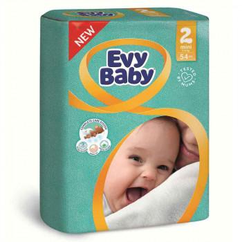 EVY BABY PELENE 2 MINI 3-6KG - 54 KOM NOVO