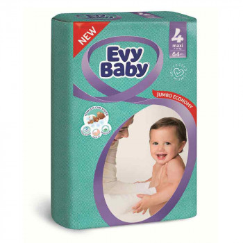 EVY BABY PELENE JUMBO 4 MAXI 8-18KG - 64 KOM NOVO