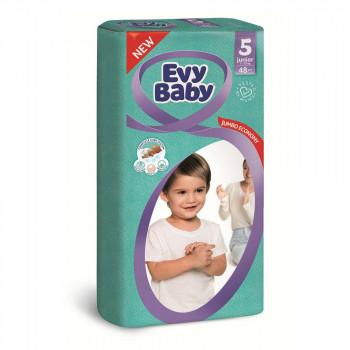 EVY BABY PELENE JUMBO 5 JUNIOR 12-25KG - 48 KOM NOVO