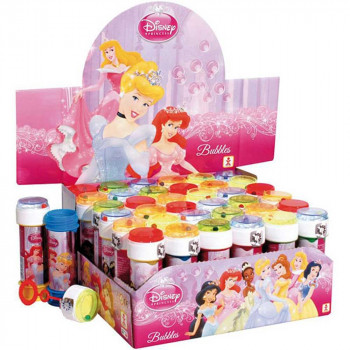 DISNEY BUBBLES PRINCESS 60ML DISPLAY 36PCS