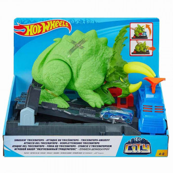 HOT WHEELS SET TRICERATOPS