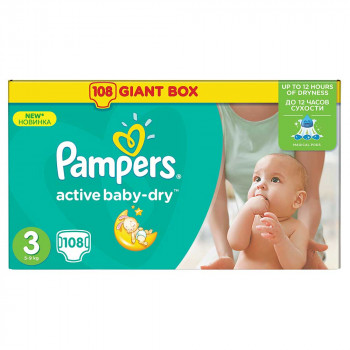 PAMPERS ACTIVE GBAG 3 MIDI (108)