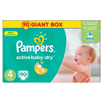 PAMPERS ACTIVE GBAG 4 MAXI (90)