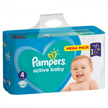 PAMPERS ACTIVE GBAG PLUS  4 MAXI (106)