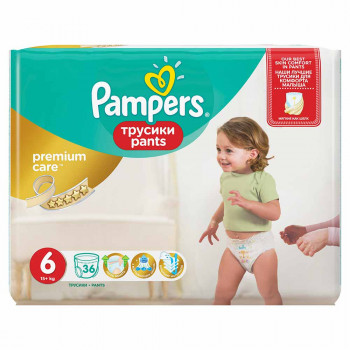 PAMPERS PREMIUM PANTS VP 6 EXTRA LARGE (36)