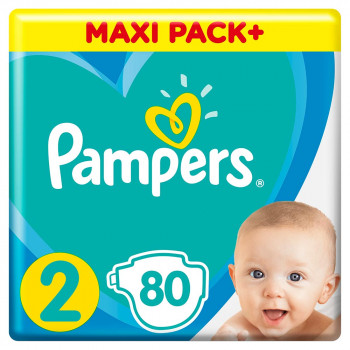 PAMPERS ACT JPM 2 (80) + WIPES 2X12 KOM