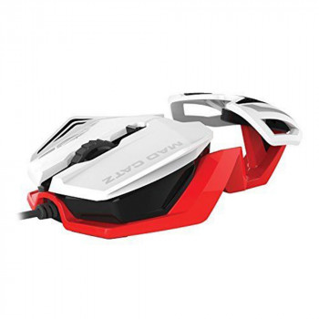 MAD CATZ R.A.T.1 WIRED GAMING MIS - WHITE/RED