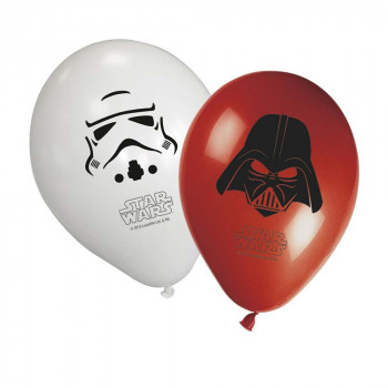 STAR WARS PARTY FAVOURS 8 BALONA