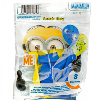MINIONS PARTY BALONI 1/8 KOM