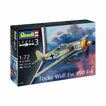 REVELL MAKETA MODEL SET FOCKE WULF FW190 F-8