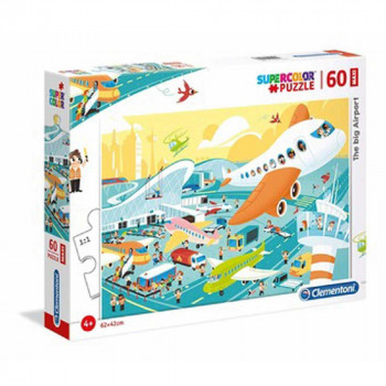 CLEMENTONI PUZZLE 60 MAXI THE BIG AIRPORT
