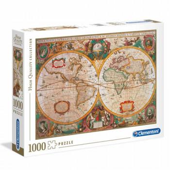CLEMENTONI PUZZLE 1000 OLD MAP