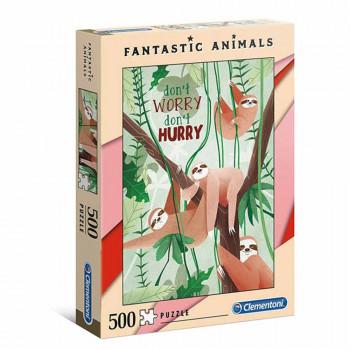 CLEMENTONI PUZZLE 500 FANTASTIC ANIMALS 3