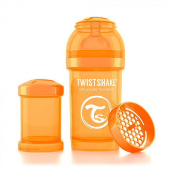 TWISTSHAKE FLAŠICA ZA BEBE 180ML PASTEL ORANGE