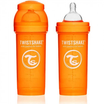 TWISTSHAKE FLAŠICA ZA BEBE 260ML PASTEL ORANGE