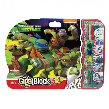 TURTLES GIGA BLOCK 5 IN 1