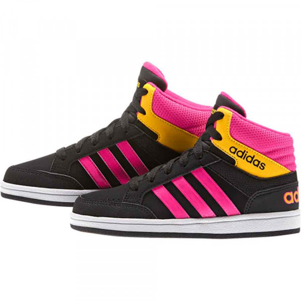 ADIDAS PATIKE HOOPS LIGHT MID K CBLACK/SHOPIN/SOGOLD