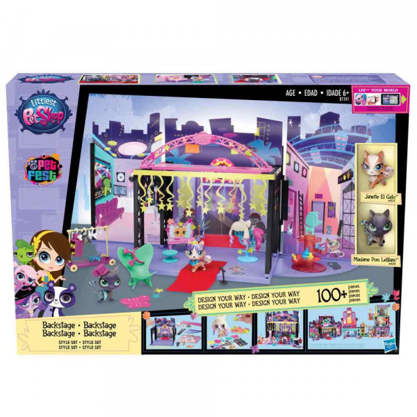 LITTLEST PET SHOP BACKSTAGE SET