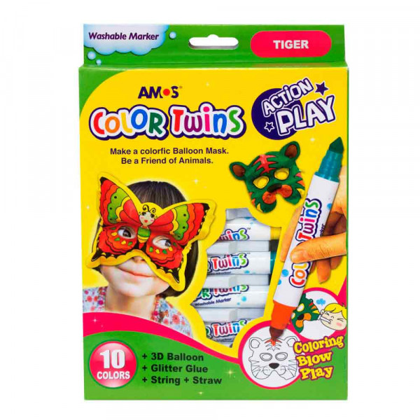 AMOS GLINA COLOR TWINS - ACTION PLAY