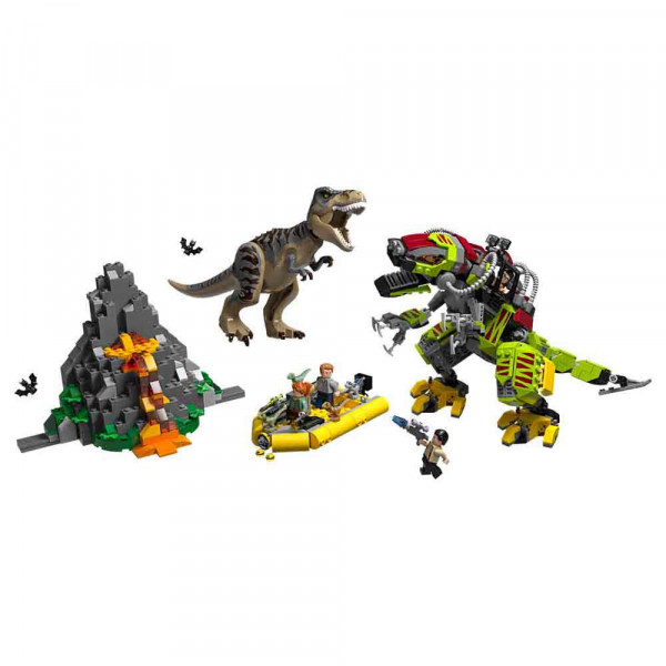 LEGO JURASSIC WORLD T REX DINO MECH BATTLE