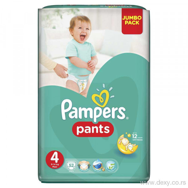 PAMPERS PANTS JP 4 MAXI  52