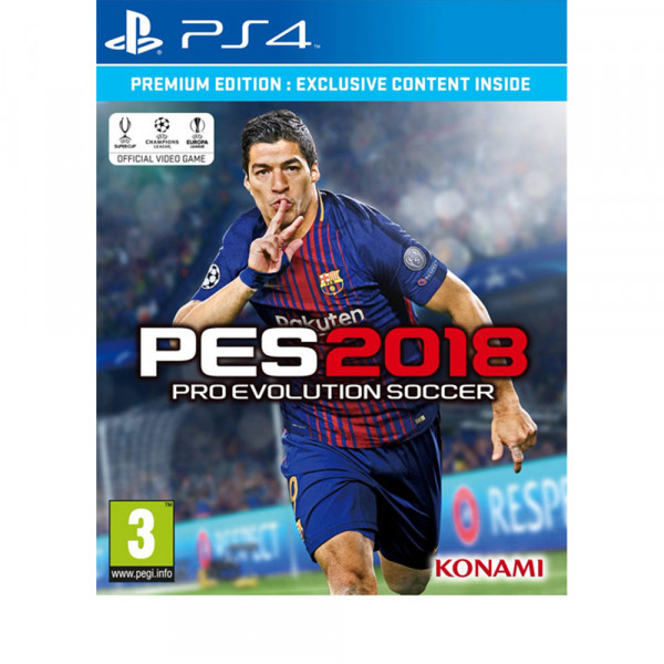 PES2018 PREMIUM PS4 PRO EVOLUTION SOCCER 2018 PREMIUM EDITION