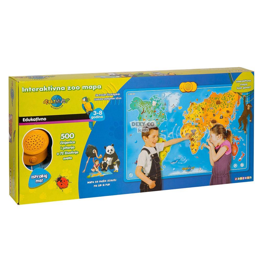 mapa sveta uzivo INTERAKTIVNA MAPA ZIVOTINJE LVZ0103 | Dexy Co Kids interprodavnica mapa sveta uzivo
