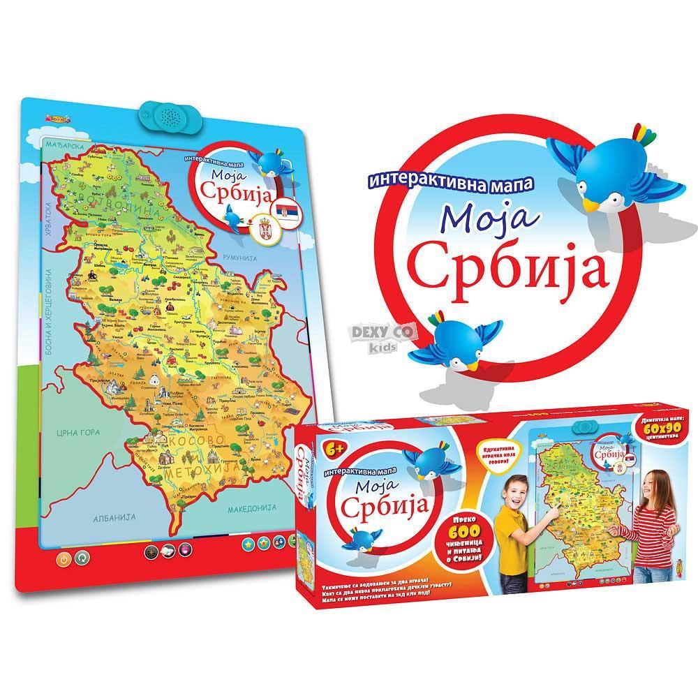 interaktivna mapa moja srbija INTERAKTIVNA MAPA MOJA SRBIJA LVZ0355 | Dexy Co Kids inter interaktivna mapa moja srbija