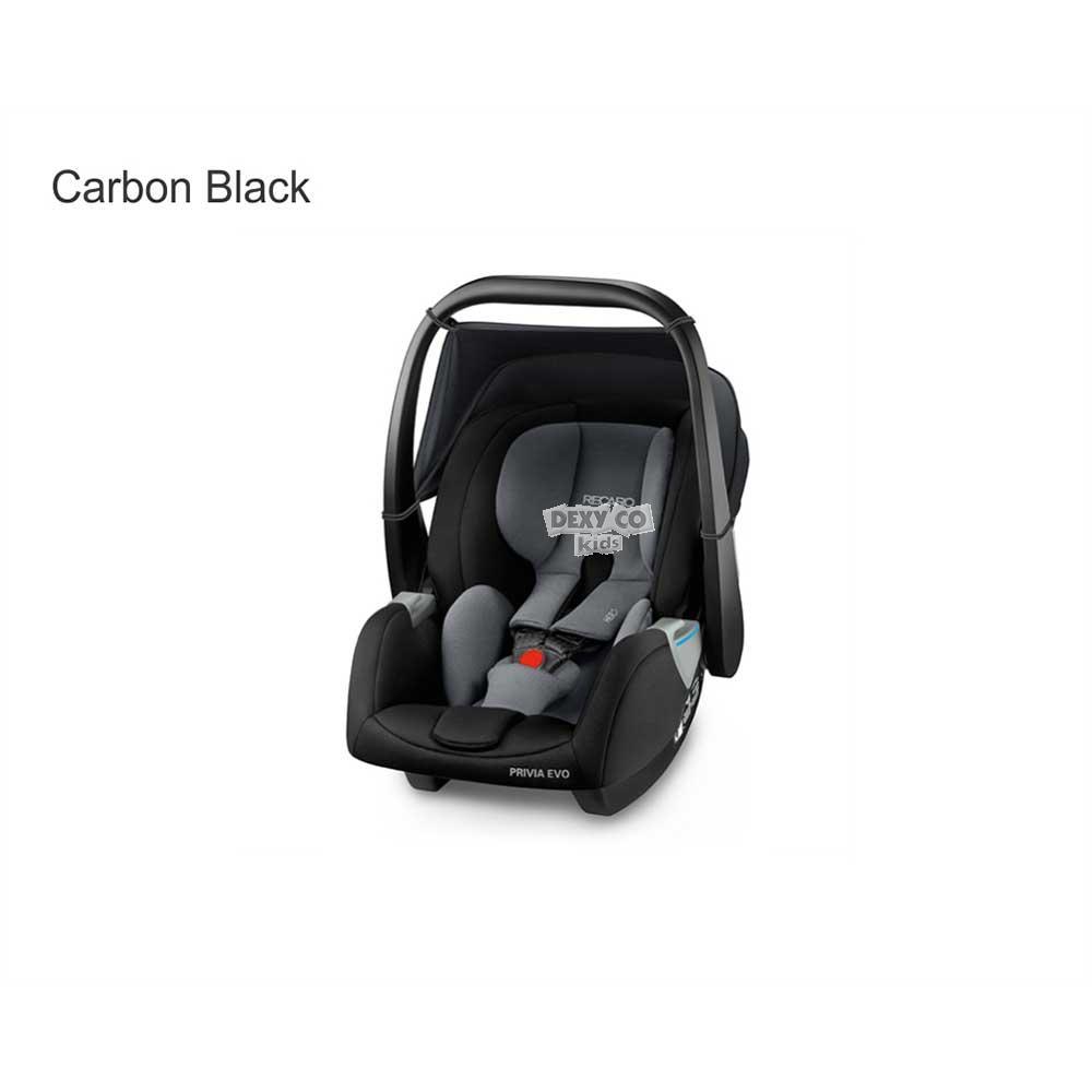 RECARO AUTOSEDISTE (0-18KG) PRIVIA EVO + BAZA CARBON BLACK
